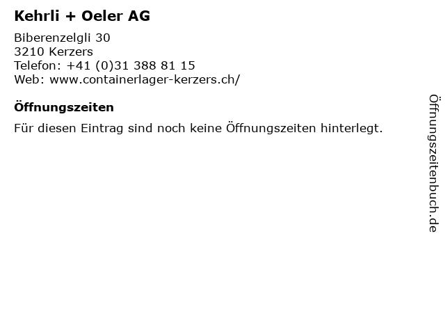 Kehrli + Oeler AG in Kerzers: Adresse und Öffnungszeiten