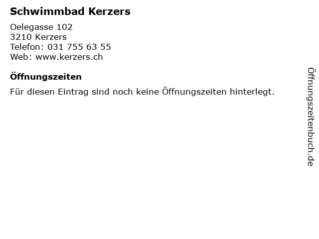 Schwimmbad Kerzers in Kerzers: Adresse und Öffnungszeiten