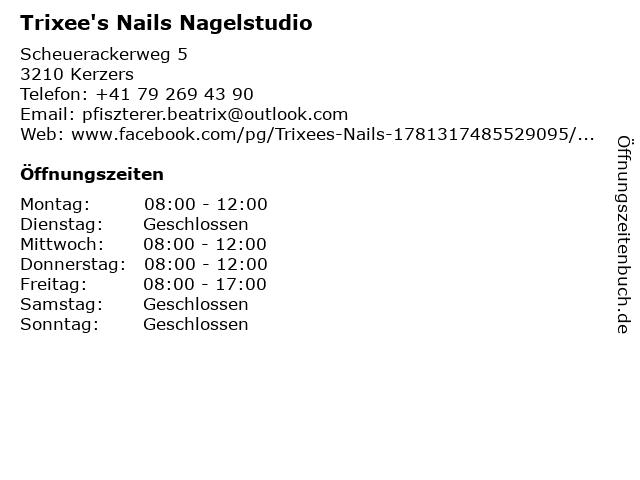 Trixee's Nails Nagelstudio in Kerzers: Adresse und Öffnungszeiten