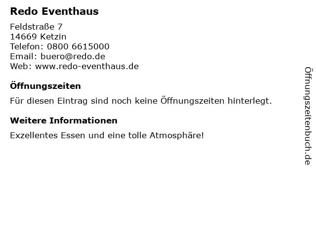 Redo Eventhaus in Ketzin: Adresse und Öffnungszeiten