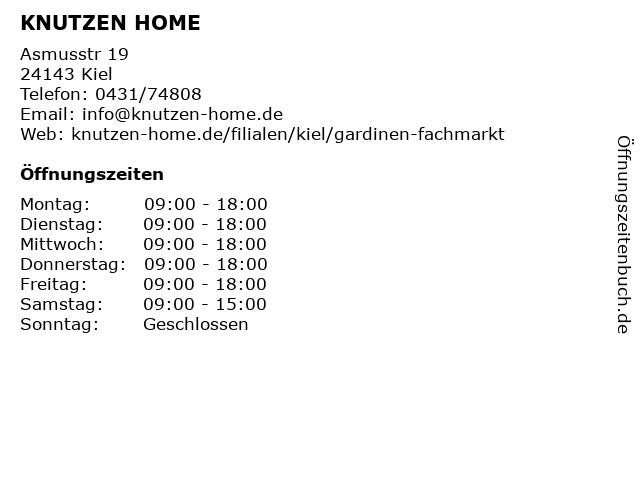 Knutzen schönes Wohnen in Kiel - Gaarden: Adresse und Öffnungszeiten