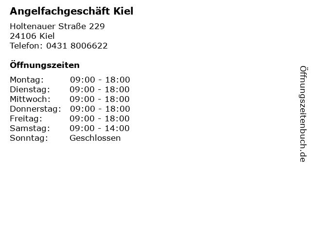 Angelfachgeschäft Kiel in Kiel: Adresse und Öffnungszeiten