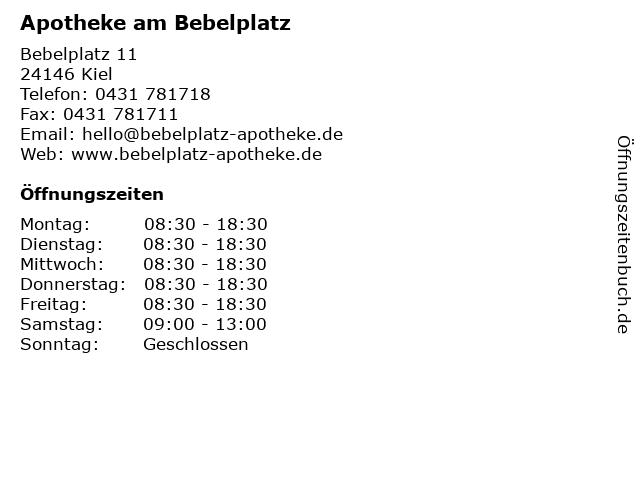Apotheke am Bebelplatz in Kiel: Adresse und Öffnungszeiten