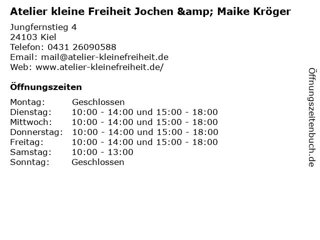Atelier kleine Freiheit Jochen & Maike Kröger in Kiel: Adresse und Öffnungszeiten