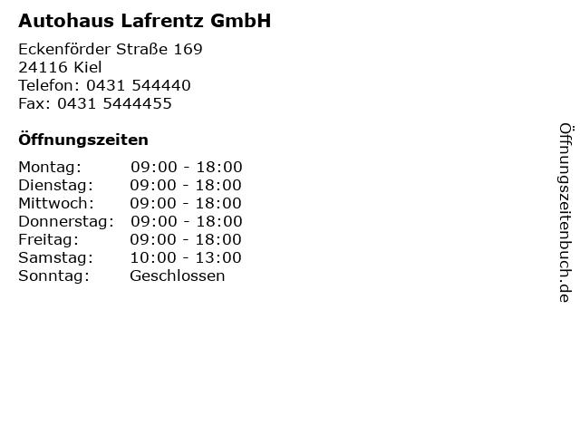 Autohaus Lafrentz GmbH in Kiel: Adresse und Öffnungszeiten