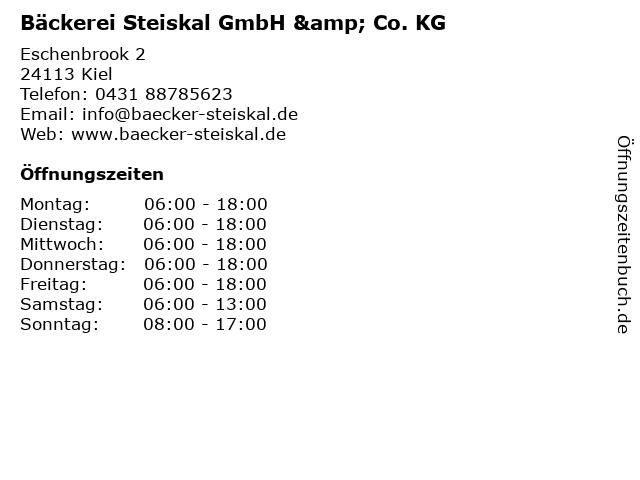 Bäckerei Steiskal GmbH & Co. KG in Kiel: Adresse und Öffnungszeiten