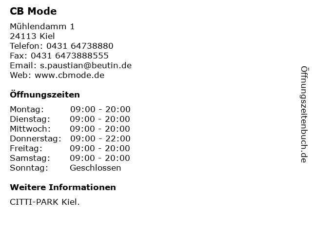 CB Mode in Kiel: Adresse und Öffnungszeiten