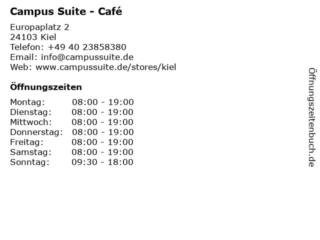 Campus Suite Kiel - Europaplatz in Kiel: Adresse und Öffnungszeiten