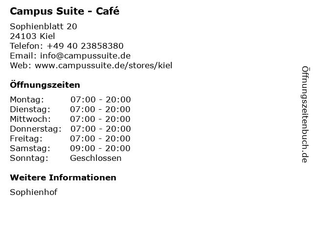 Campus Suite in Kiel: Adresse und Öffnungszeiten