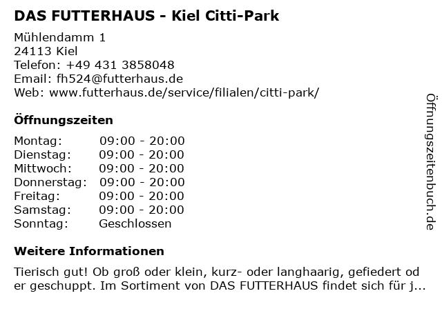 Das Futterhaus Franchise GmbH in Kiel: Adresse und Öffnungszeiten