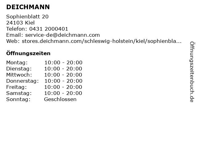 Deichmann Schuhe in Kiel: Adresse und Öffnungszeiten