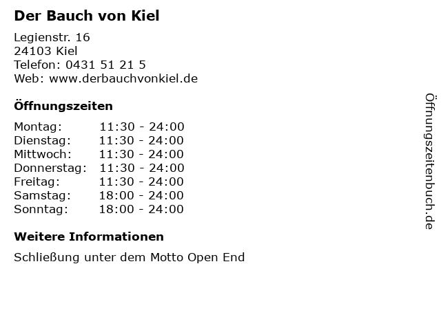 Der Bauch von Kiel in Kiel: Adresse und Öffnungszeiten