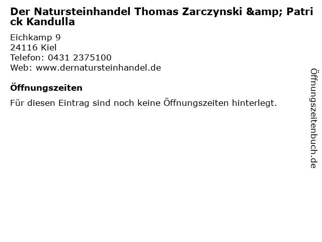 Der Natursteinhandel Thomas Zarczynski & Patrick Kandulla in Kiel: Adresse und Öffnungszeiten
