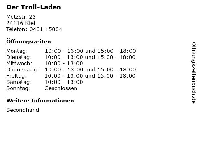 Der Troll-Laden in Kiel: Adresse und Öffnungszeiten