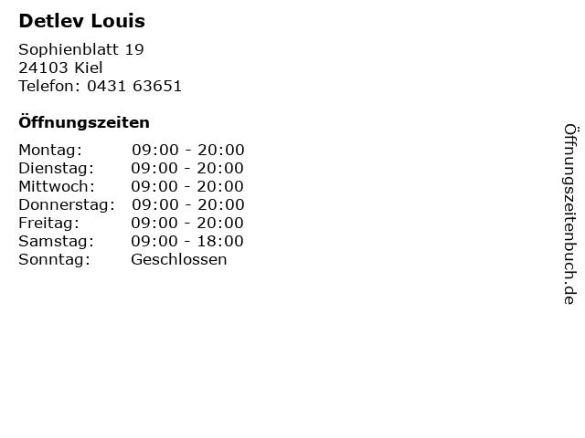 Detlev Louis in Kiel: Adresse und Öffnungszeiten