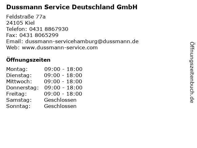 Dussmann Service Deutschland GmbH in Kiel: Adresse und Öffnungszeiten