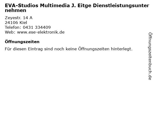 EVA-Studios Multimedia J. Eitge Dienstleistungsunternehmen in Kiel: Adresse und Öffnungszeiten