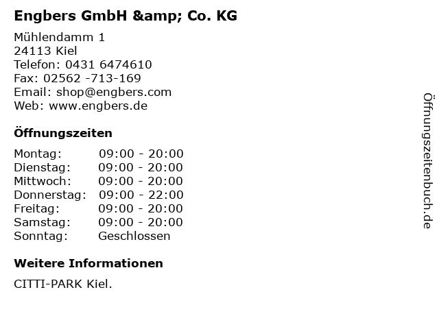 Engbers GmbH & Co. KG in Kiel: Adresse und Öffnungszeiten