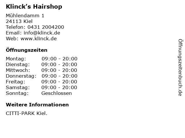 Everybodys Hairshop in Kiel: Adresse und Öffnungszeiten