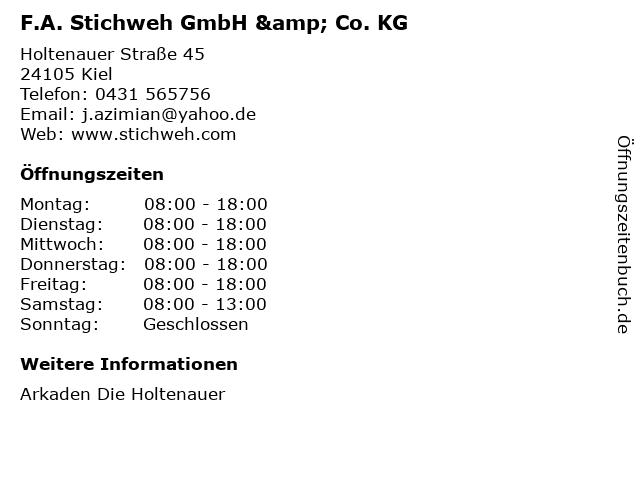 F.A. Stichweh GmbH & Co. KG in Kiel: Adresse und Öffnungszeiten