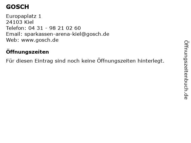 GOSCH in Kiel: Adresse und Öffnungszeiten