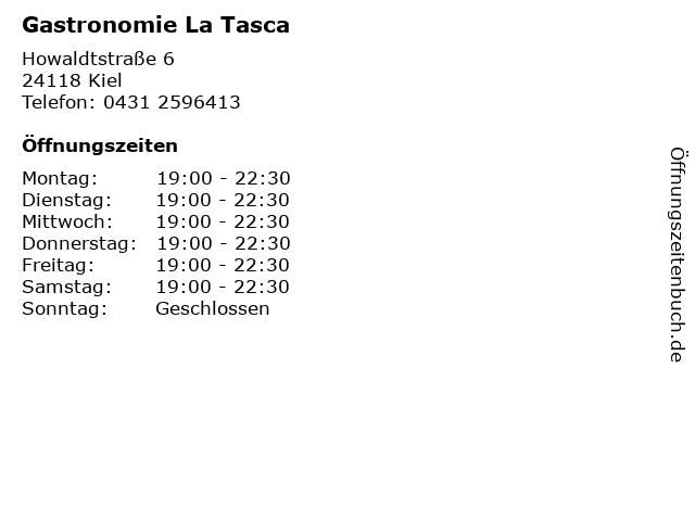 Gastronomie La Tasca in Kiel: Adresse und Öffnungszeiten