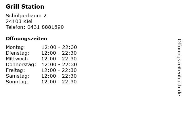 Grill Station in Kiel: Adresse und Öffnungszeiten