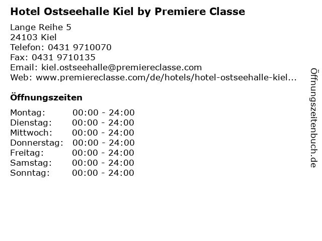 Hotel Ostseehalle Kiel by Premiere Classe in Kiel: Adresse und Öffnungszeiten
