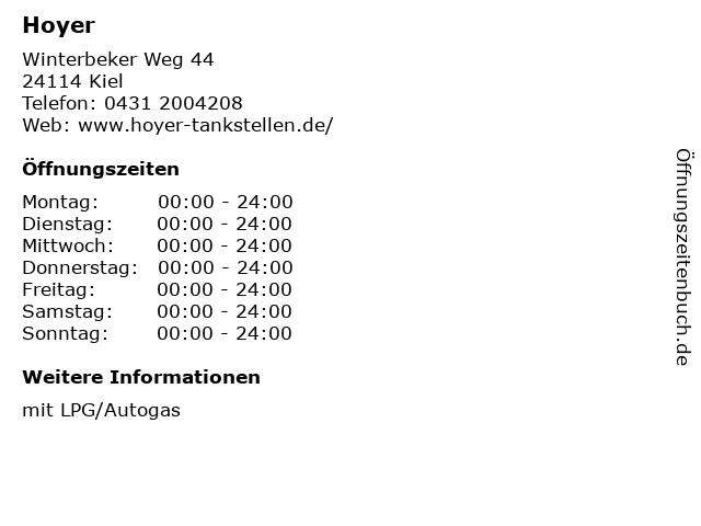 Hoyer in Kiel: Adresse und Öffnungszeiten