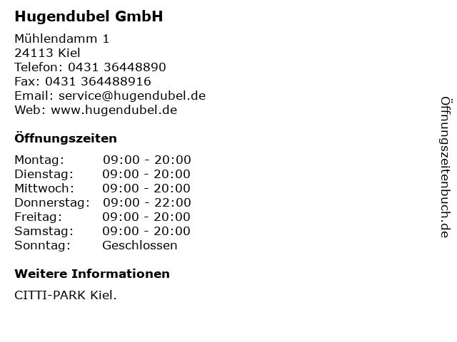 Hugendubel GmbH in Kiel: Adresse und Öffnungszeiten