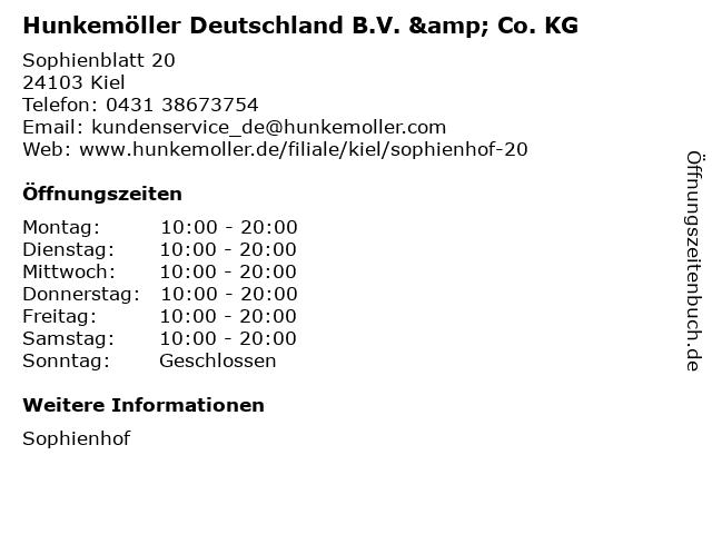 Hunkemöller Deutschland B.V. & Co. KG in Kiel: Adresse und Öffnungszeiten