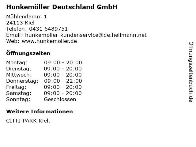 Hunkemöller Deutschland GmbH in Kiel: Adresse und Öffnungszeiten