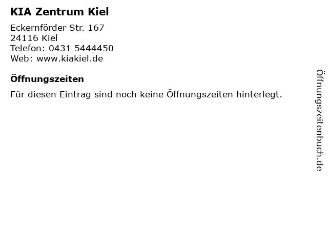 KIA Zentrum Kiel in Kiel: Adresse und Öffnungszeiten