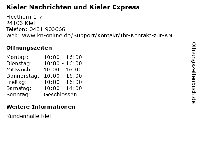 kieler express kontakt