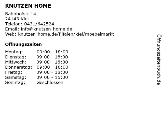 Knutzen schönes Wohnen in Kiel: Adresse und Öffnungszeiten