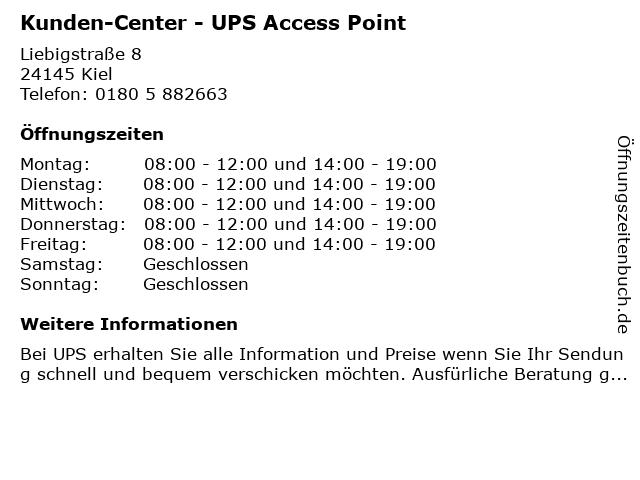 Kunden-Center - UPS Access Point in Kiel: Adresse und Öffnungszeiten