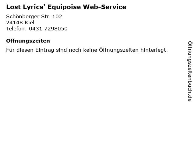 Lost Lyrics' Equipoise Web-Service in Kiel: Adresse und Öffnungszeiten