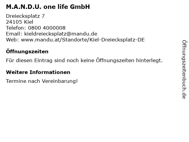 M.A.N.D.U. Your Lifestyleworkout in Kiel: Adresse und Öffnungszeiten