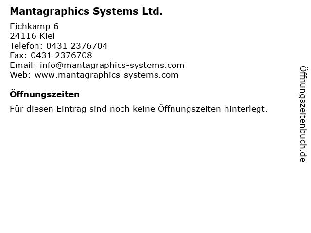 Mantagraphics Systems Ltd. in Kiel: Adresse und Öffnungszeiten