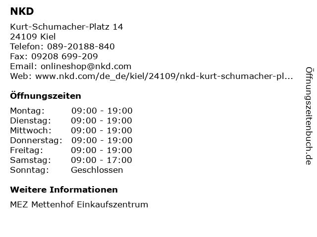 NKD Deutschland GmbH in Kiel: Adresse und Öffnungszeiten