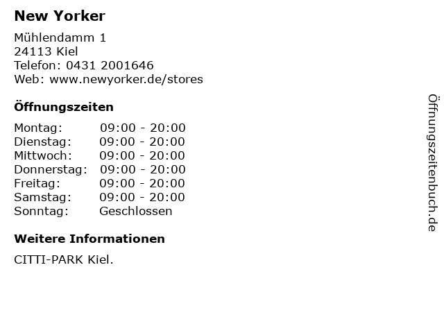 New Yorker Deutschland GmbH in Kiel: Adresse und Öffnungszeiten