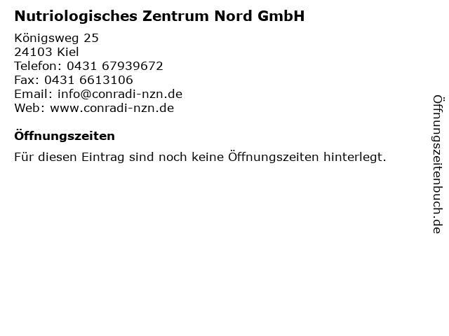Nutriologisches Zentrum Nord GmbH in Kiel: Adresse und Öffnungszeiten