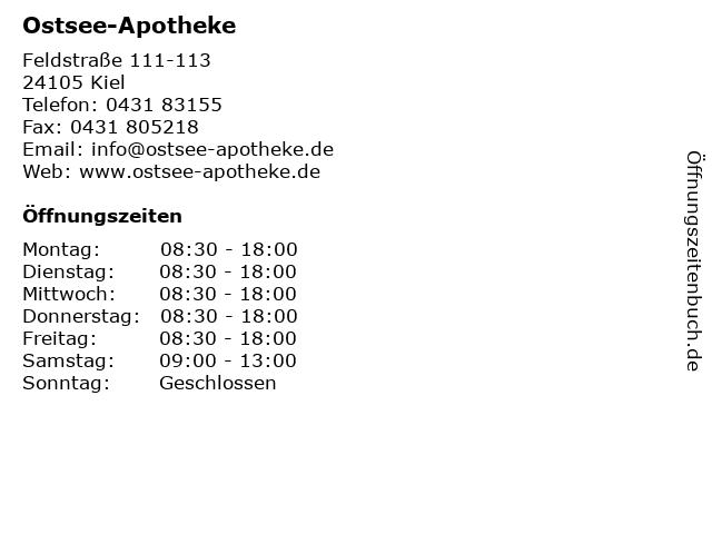 Ostsee-Apotheke in Kiel: Adresse und Öffnungszeiten