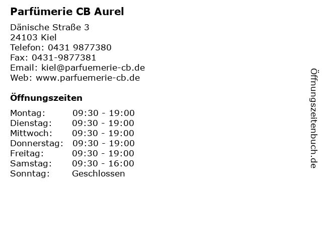 Parfümerie CB Aurel in Kiel: Adresse und Öffnungszeiten