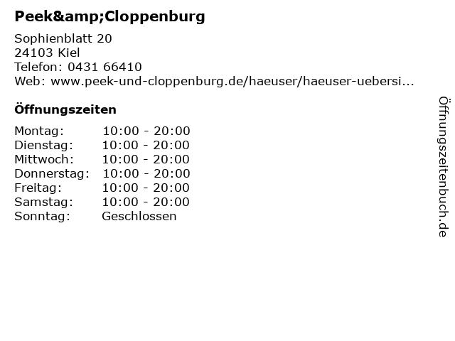 Peek & Cloppenburg KG in Kiel: Adresse und Öffnungszeiten