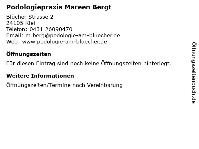 Podologiepraxis Mareen Bergt in Kiel: Adresse und Öffnungszeiten