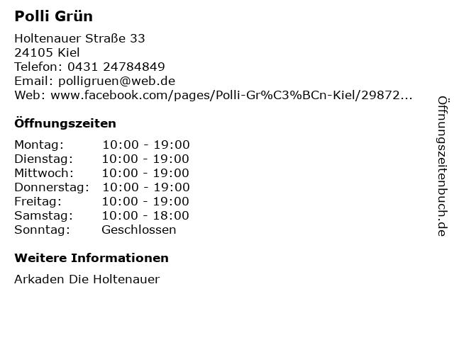 Polli Grün in Kiel: Adresse und Öffnungszeiten