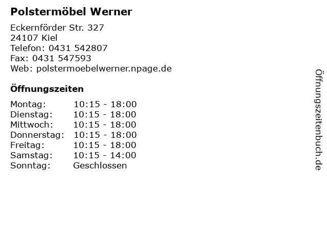Polstermöbel Werner in Kiel: Adresse und Öffnungszeiten