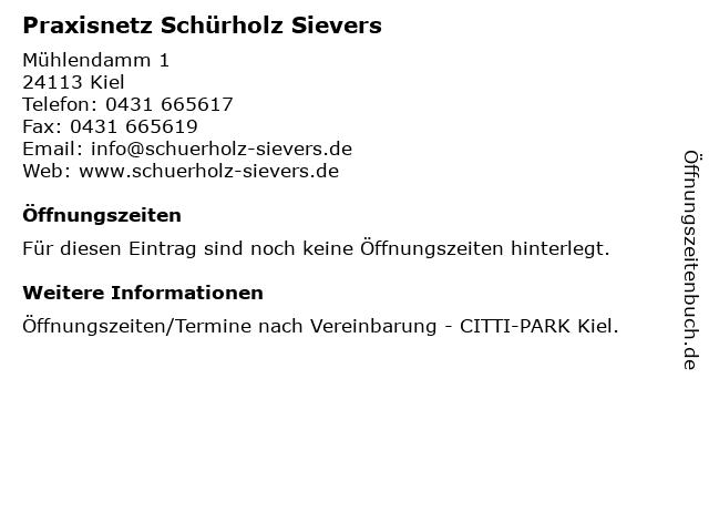Praxisnetz Schürholz Sievers in Kiel: Adresse und Öffnungszeiten