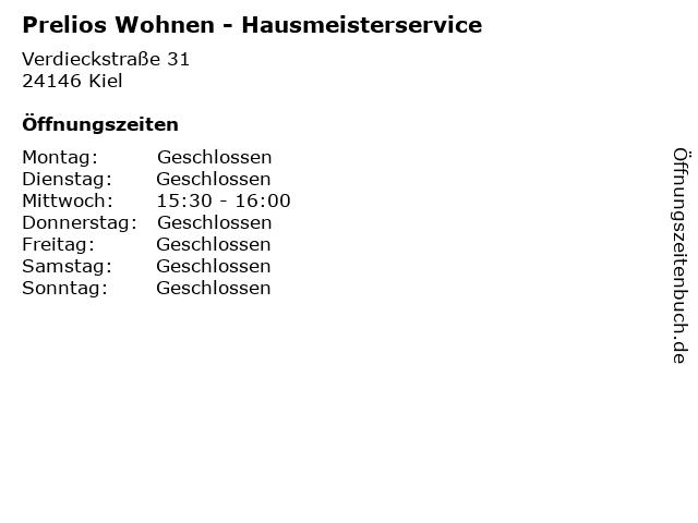 Prelios Wohnen - Hausmeisterservice in Kiel: Adresse und Öffnungszeiten